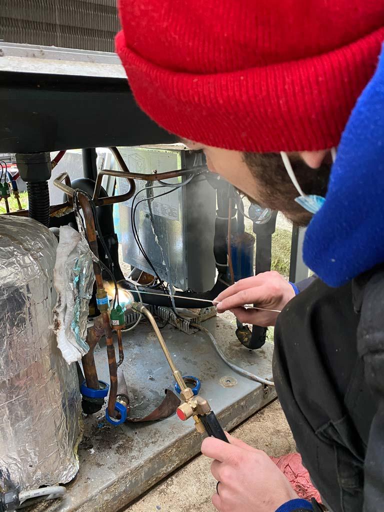 pose de pompe à chaleur